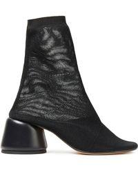 MM6 by Maison Martin Margiela Stretch-mesh Sock Boots - Black