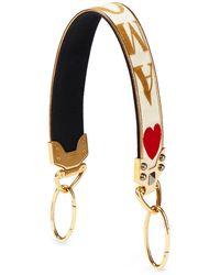 Dolce & Gabbana Tragriemen Aus Samt Mit Print - Weiß
