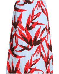 Marni - Printed Cotton And Linen-blend Skirt - Lyst