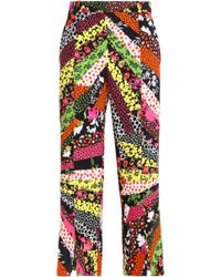 Versace - Printed Crepe Culottes - Lyst