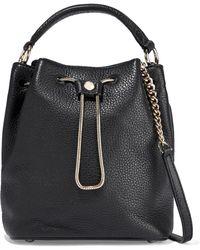 Diane von Furstenberg - Love Power Textured-leather Bucket Bag - Lyst