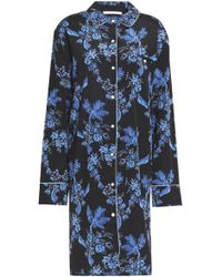 Stella McCartney - Floral-print Stretch-silk Nightshirt - Lyst