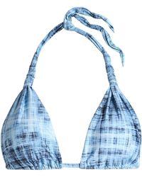 ViX - Printed Triangle Bikini Top - Lyst