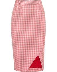 Altuzarra - Wilcox Gingham Cotton-blend Wrap-effect Skirt - Lyst