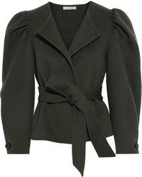 Ulla Johnson Maxine Belted Wool-felt Jacket - Green
