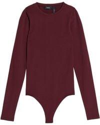 Theory - Crepe Bodysuit - Lyst