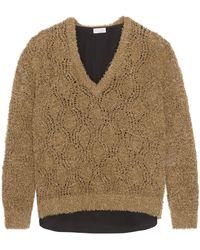 Brunello Cucinelli | Bouclé-knit Cotton-blend Jumper | Lyst