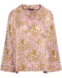 Love Stories Jude Printed Satin Pyjama Top Lilac - Purple