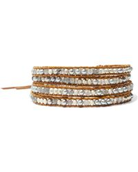 Chan Luu - Leather, Cord And Beaded Stone Wrap Bracelet - Lyst