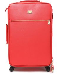 Dolce & Gabbana Textured-leather Suitcase - Multicolour