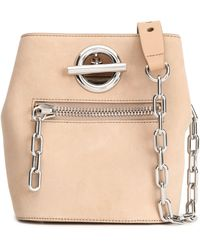 Alexander Wang Suede Bucket Bag Beige - Natural