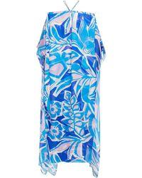 Emilio Pucci - Cold-shoulder Printed Silk-chiffon Kaftan - Lyst