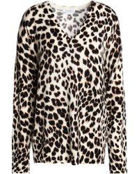 Equipment - Lucinda Leopard-print Cashmere Sweater - Lyst