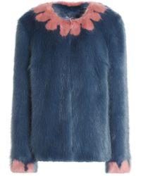 Shrimps Polly Faux Fur Coat - Blue
