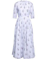 Emilia Wickstead Woman Floral-print Cotton Midi Dress White