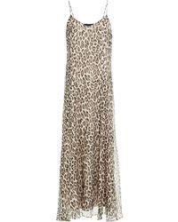Theory Leopard-print Silk-georgette Maxi Slip Dress - White