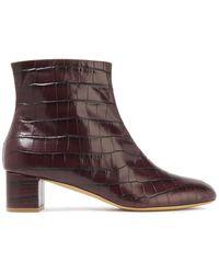 Mansur Gavriel Sur Gavriel Croc-effect Leather Ankle Boots - Multicolour