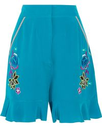 Matthew Williamson - Bead-embellished Embroidered Silk Shorts - Lyst