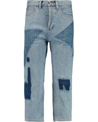 Marc By Marc Jacobs - Big Cropped Patchwork Jeans - Lyst