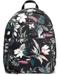 Kate Spade - Woman Watson Lane Hartley Floral-print Shell Tote Black - Lyst