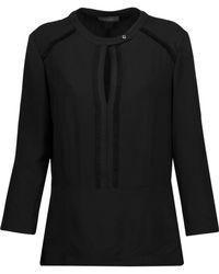 Belstaff - Lilly Frayed Crepe Top - Lyst