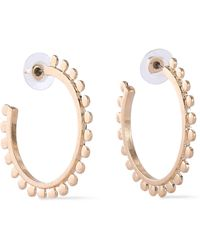 Kenneth Jay Lane - Gold-tone Hoop Earrings Gold - Lyst
