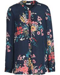 Joie - Floral-print Silk Crepe De Chine Blouse - Lyst