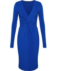 By Malene Birger - Knotted Crepe Dress Royal Blue - Lyst
