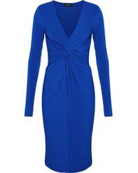 By Malene Birger - Twist-front Stretch-crepe Dress - Lyst