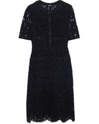 Adam Lippes - Grosgrain-trimmed Cotton-blend Corded Lace Mini Dress - Lyst