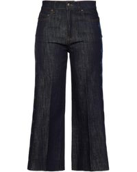RED Valentino Cropped High-rise Wide-leg Jeans - Blue