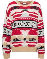 Claudie Pierlot Jacquard-knit Wool-blend Sweater Multicolour