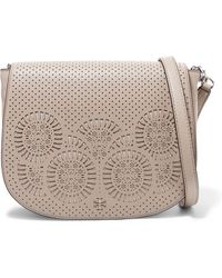 Tory Burch - Laser-cut Leather Shoulder Bag - Lyst