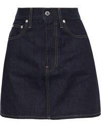 Helmut Lang Cotton Skirt - Blue