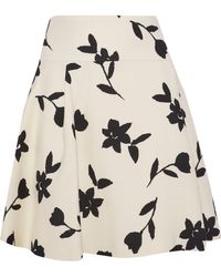 Carolina Herrera - Floral-print Wool-twill Biker Jacket Cream - Lyst