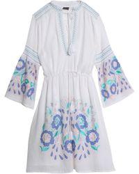 Antik Batik - Rubi Embroidered Cotton-voile Dress - Lyst