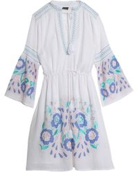 Antik Batik | Smocked Embroidered Cotton-voile Dress | Lyst