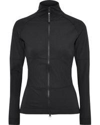 9c41c795b14c adidas By Stella McCartney - Woman The Midlayer Paneled Stretch Track Jacket  Black - Lyst