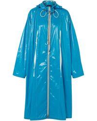 CALVIN KLEIN 205W39NYC Oversized Coated Shell Raincoat Azure - Blue