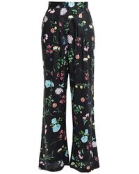 Paper London Gladys Prince Of Wales Checked Woven Wide-leg Trousers - Black