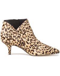 Sam Edelman Kadison Leopard-print Calf Hair Ankle Boots Animal Print - Brown