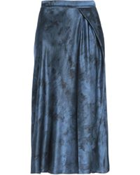 Vince - Wrap-effect Silk-satin Midi Skirt - Lyst