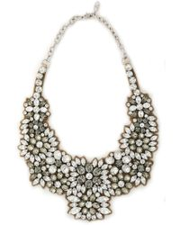 Valentino - Silver-tone, Crystal And Satin Necklace - Lyst