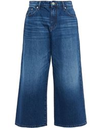 Maje Cropped High-rise Wide-leg Jeans - Blue