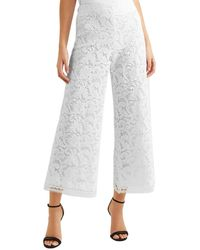 Adam Lippes Cotton-blend Corded Lace Culottes - White