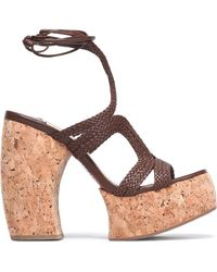 Paloma Barceló - Braided Leather Platform Sandals - Lyst
