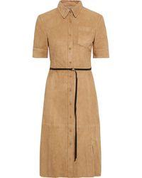 Altuzarra Kleid aus veloursleder mit gürtel - Natur