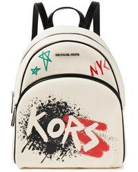MICHAEL Michael Kors Abbey Printed Canvas Backpack - Multicolour