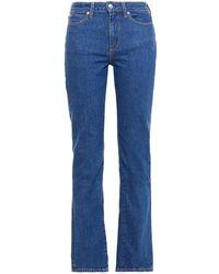 Simon Miller High-rise Straight-leg Jeans - Blue