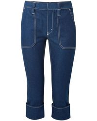 Chloé Chloé Cropped High-rise Straight-leg Jeans Blue